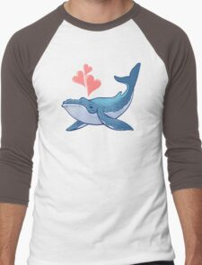 Whale Love! Men's Baseball ¾ T-Shirt