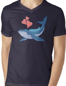Whale Love! Mens V-Neck T-Shirt