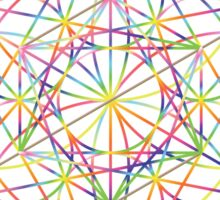 Sacred Geometry Sphere, Rainbow Sticker