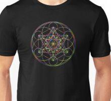Sacred Geometry Sphere, Rainbow Unisex T-Shirt