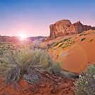 Sunrise over Monument valley by Stephen Knowles