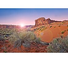 Sunrise over Monument valley Photographic Print