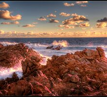 Canal Rocks Sunset by Peter Rattigan