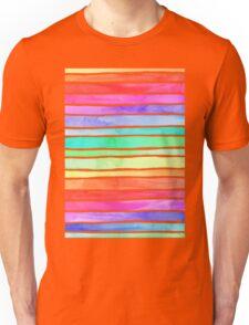 Ever So Bright Rainbow Stripes Unisex T-Shirt