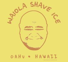 Hawaii 5-0 Waiola Shave Ice Logo (Orange) by Sharknose