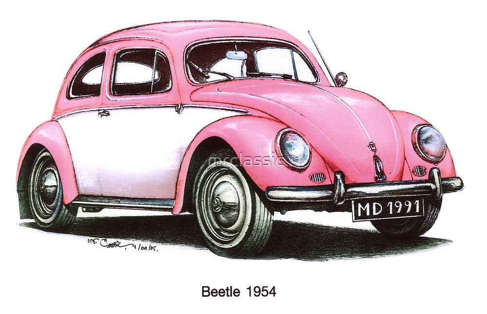 1954 Volkswagen Beetle by mrclassic