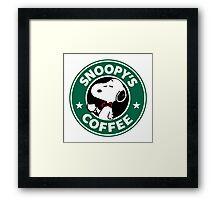 Snoopy Starbucks Framed Print