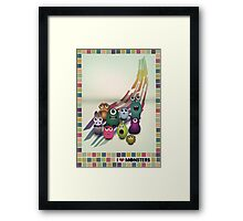 I Love Monsters Framed Print