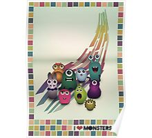 I Love Monsters Poster