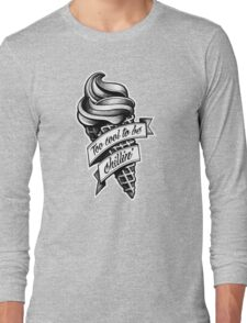 Too Cool... black and white Long Sleeve T-Shirt