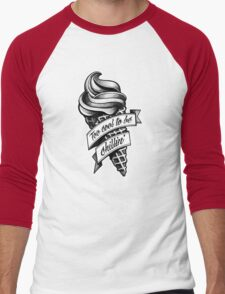 Too Cool... black and white Men's Baseball ¾ T-Shirt