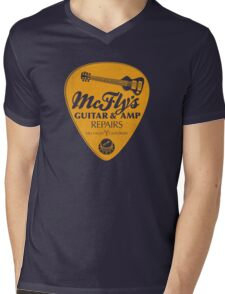 McFly's Repairs - Orange Mens V-Neck T-Shirt