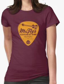 McFly's Repairs - Orange Womens Fitted T-Shirt