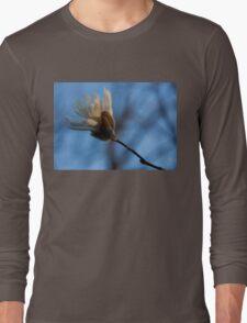 Blue Sky Magnolia Blossom - Dreaming of Spring Long Sleeve T-Shirt
