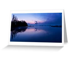 Blue mornings Greeting Card