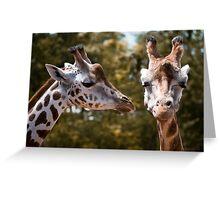 Secret Giraffe Greeting Card