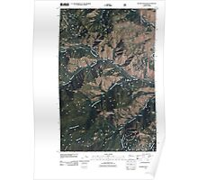 USGS Topo Map Washington State WA Hungry Mountain 20110427 TM Poster