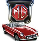 MGB in Red by davidkyte
