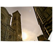 The Baptistry, The Cathedral, and The Bell Tower Poster