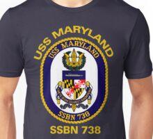 USS Maryland (SSBN-738) Crest for Dark Colors Unisex T-Shirt
