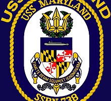 USS Maryland (SSBN-738) Crest for Dark Colors by Spacestuffplus