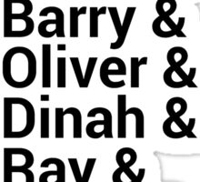 Justice League Names Sticker