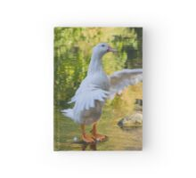 duck on lake Hardcover Journal
