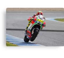 Valentino Rossi in Jerez 2012 Canvas Print