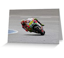 Valentino Rossi in Jerez 2012 Greeting Card