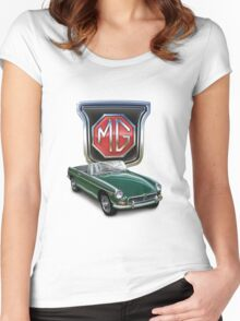 MGB British Racing Green Women's Fitted Scoop T-Shirt