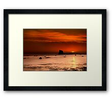 Saltwick Bay Sunrise Framed Print