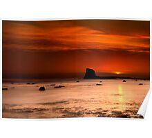 Saltwick Bay Sunrise Poster