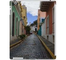 Dazzling Caribbean Colors - a Street in San Juan, Puerto Rico iPad Case/Skin