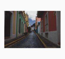 Dazzling Caribbean Colors - a Street in San Juan, Puerto Rico One Piece - Short Sleeve
