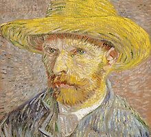 Self Portrait with Straw Hat by Vincent van Gogh by Robert Partridge