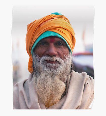 Yellow Turban, Green Knit Poster