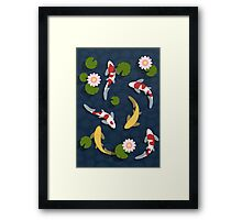 Japanese Koi Fish Pond Framed Print
