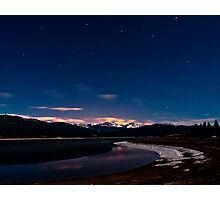 Lake Grandby at Night Photographic Print