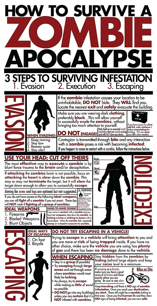 How To Survive A Zombie Apocalypse by brendan531