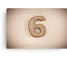 Number VI Canvas Print