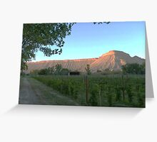 Mount Garfield at Dusk, Clifton, Colorado Greeting Card