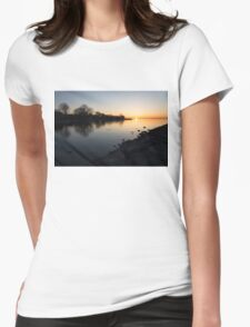 Greeting the New Day on Lake Ontario in Toronto, Canada Womens Fitted T-Shirt