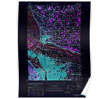 USGS Topo Map Oregon OR Portland 282800 1940 62500 Inverted Poster