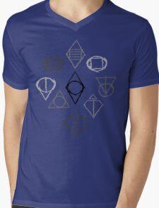 Shadow Marks Mens V-Neck T-Shirt