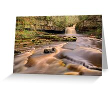 Cauldron Falls, West Burton Greeting Card