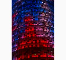 Bright Blue, Red and Pink Illumination - Agbar Tower, Barcelona, Catalonia, Spain Unisex T-Shirt