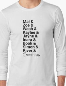 Firefly (Serenity) Names Long Sleeve T-Shirt