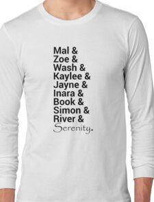Firefly (Serenity) Names Long Sleeve T-Shirt