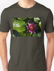 Vivid Magenta Lotus Bloom T-Shirt