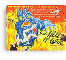 B Movie: From Hell Canvas Print
